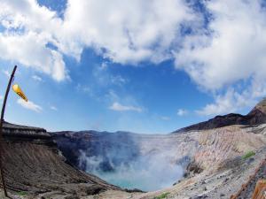 阿蘇 中岳火口と砂千里ヶ浜